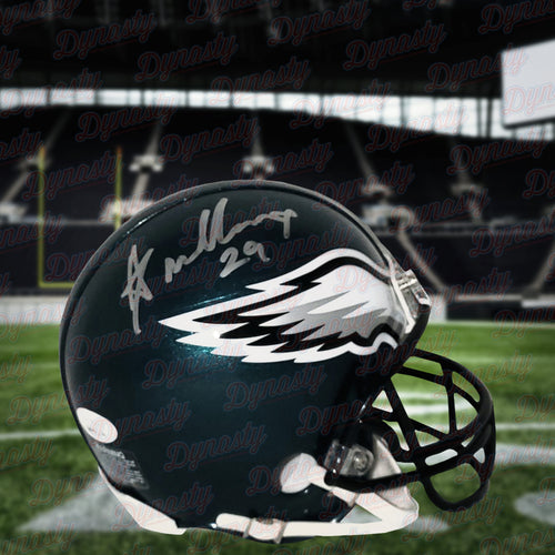 Avonte Maddox Philadelphia Eagles Autographed NFL Football Mini-Helmet - Dynasty Sports & Framing