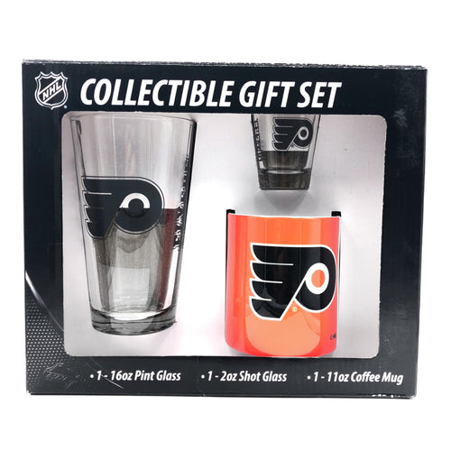 Philadelphia Flyers NHL 3-Piece Glassware Gift Set