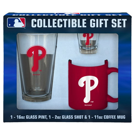 Philadelphia Phillies MLB 3-Piece Glassware Gift Set