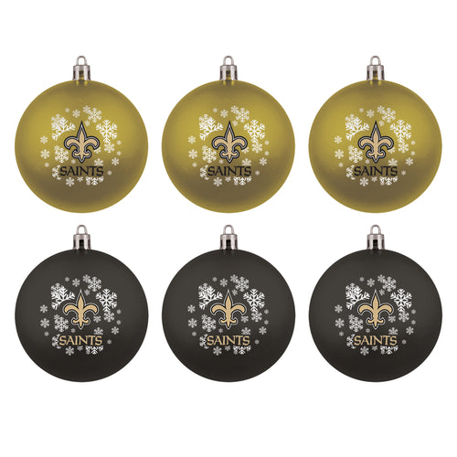 New Orleans Saints Holiday 6 Piece Ornament Set - Dynasty Sports & Framing