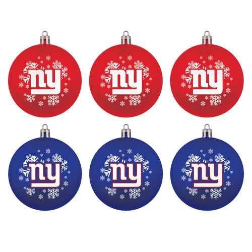 New York Giants Holiday 6 Piece Ornament Set - Dynasty Sports & Framing