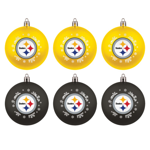 Pittsburgh Steelers Holiday 6 Piece Ornament Set
