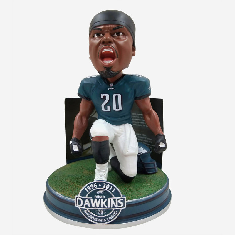 Brian Dawkins Philadelphia Eagles Career Stats Bobblehead - Dynasty Sports & Framing