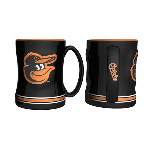 Baltimore Orioles MLB Baseball Logo Relief 14 oz. Mug