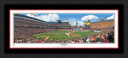 Baltimore Orioles Opening Day Framed and Matted Stadium Panorama