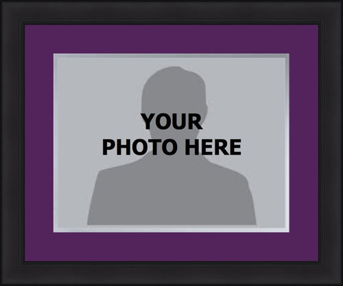 MLB Baseball Photo Picture Frame Kit - Colorado Rockies (Purple Matting, Gray Trim)