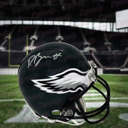 Derek Barnett Philadelphia Eagles Autographed NFL Football Mini-Helmet - Dynasty Sports & Framing