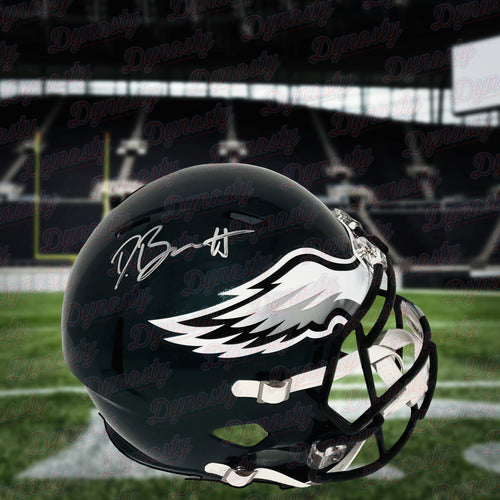 Derek Barnett Philadelphia Eagles Autographed NFL Football Full-Size Deluxe Speed Helmet - Dynasty Sports & Framing