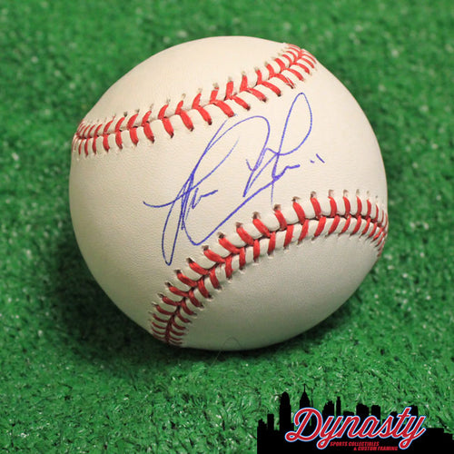 Jorge Alfaro Miami Marlins Autographed Major League Baseball (White) - Dynasty Sports & Framing