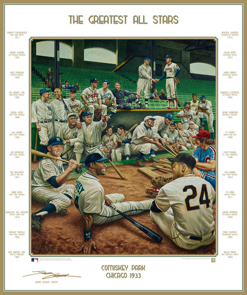 MLB Baseball's Greatest All-Stars Exclusive Dream Scene Lithograph Artwork Print by Artist Jamie Cooper - Dynasty Sports & Framing