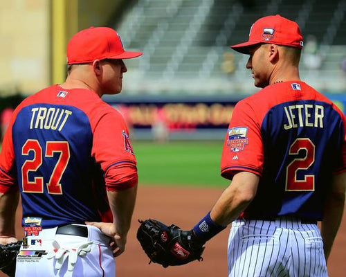 "Mike Trout & Derek Jeter 2014 All-Star Game 8"" x 10"" Baseball Photo - Dynasty Sports & Framing"