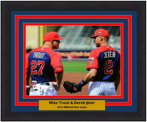 "Mike Trout & Derek Jeter 2014 All-Star Game 8"" x 10"" Framed Baseball Photo - Dynasty Sports & Framing"