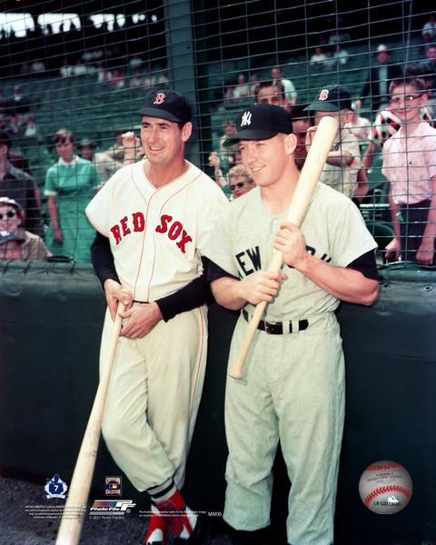 "Ted Williams and Mickey Mantle Together on the Field MLB Baseball 8"" x 10"" Legends Photo"