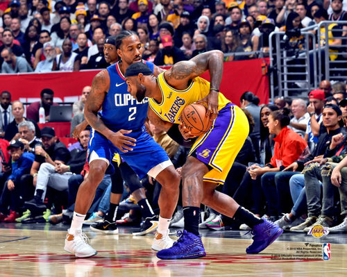 "Kawhi Leonard v. LeBron James 8"" x 10"" Basketball Photo - Dynasty Sports & Framing"