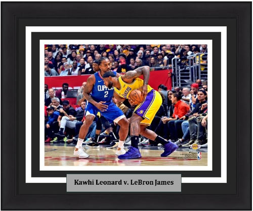 "Kawhi Leonard v. LeBron James 8"" x 10"" Framed Basketball Photo - Dynasty Sports & Framing"