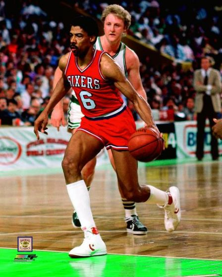 "Julius Erving v. Larry Bird 8"" x 10"" Basketball Photo - Dynasty Sports & Framing"