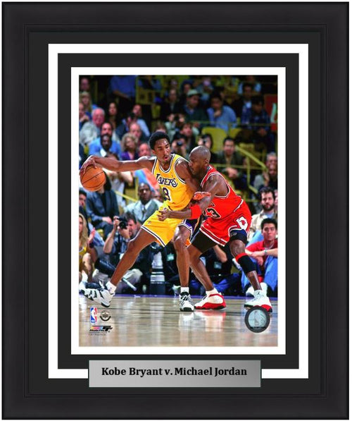 "Lakers/Bulls Kobe Bryant v. Michael Jordan NBA Basketball 8"" x 10"" Framed and Matted Photo"