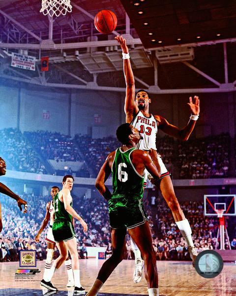 "Wilt Chamberlain v. Bill Russell 8"" x 10"" Basketball Photo - Dynasty Sports & Framing"