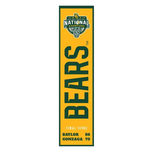 Baylor Bears 2021 College Basketball NCAA Championship Heritage Banner - Dynasty Sports & Framing