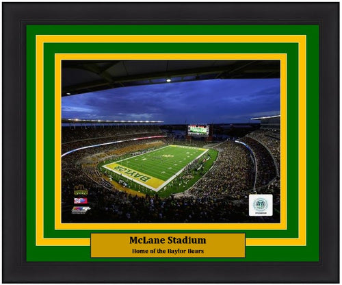 "Baylor Bears McLane Stadium NCAA College Football 8"" x 10"" Framed and Matted Photo"