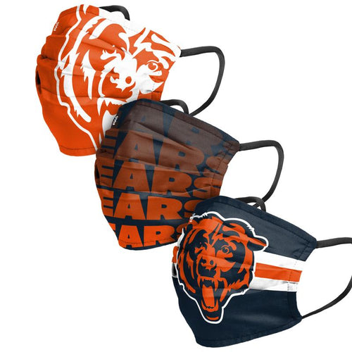 Chicago Bears 3-Pack Match Day Face Mask Covers - Dynasty Sports & Framing