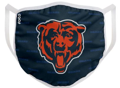 Chicago Bears Solid Big Logo Face Cover Mask - Dynasty Sports & Framing