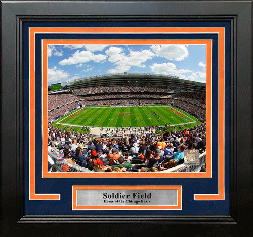 "Chicago Bears Soldier Field 8"" x 10"" Framed Football Stadium Photo - Dynasty Sports & Framing"