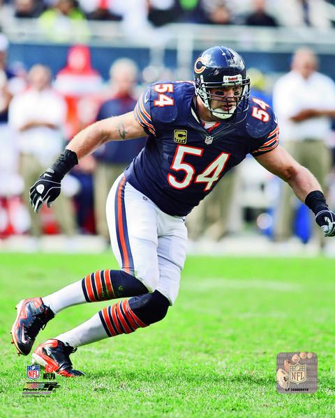 "Chicago Bears Brian Urlacher NFL Football 8"" x 10"" Photo"