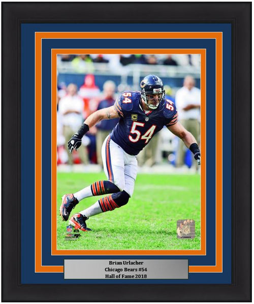"Chicago Bears Brian Urlacher NFL Football 8"" x 10"" Framed and Matted Photo"