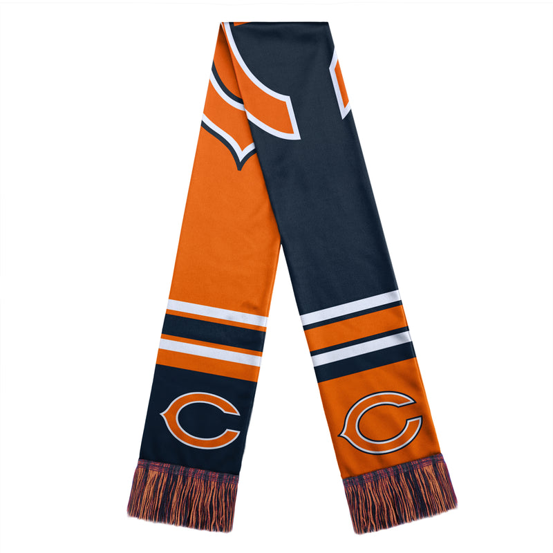 Chicago Bears NFL Football Color Block Big Logo Scarf
