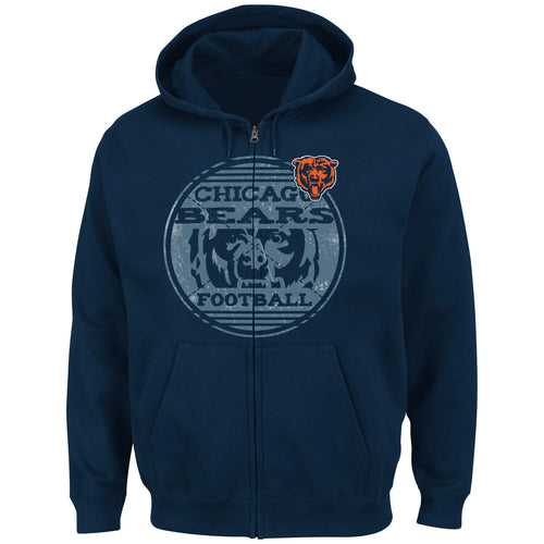Chicago Bears NFL Football Defeat Proof Full-Zip Hooded Sweatshirt - Dynasty Sports & Framing