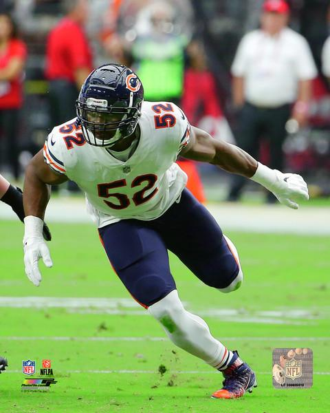 "Khalil Mack in Action Chicago Bears NFL Football 8"" x 10"" Photo"