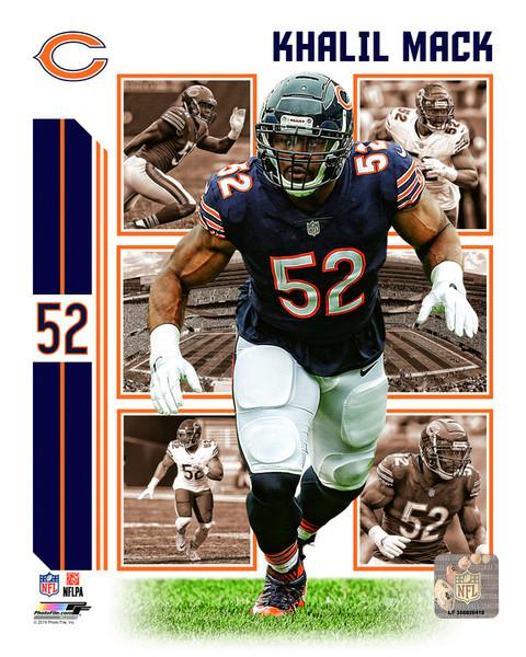 "Khalil Mack Player Collage Chicago Bears NFL Football 8"" x 10"" Photo"