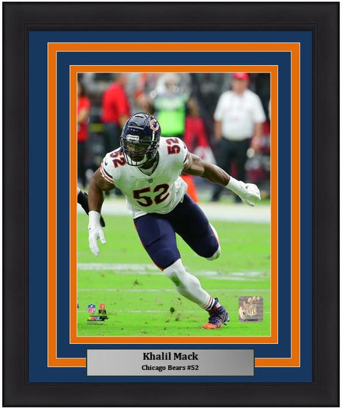 "Khalil Mack in Action Chicago Bears NFL Football 8"" x 10"" Framed and Matted Photo"