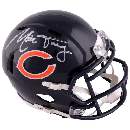 Mitchell Trubisky Chicago Bears Autographed NFL Football Speed Mini-Helmet - Dynasty Sports & Framing
