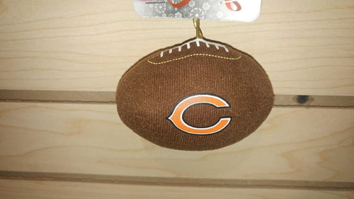 Chicago Bears Plush Football Ornament - Dynasty Sports & Framing