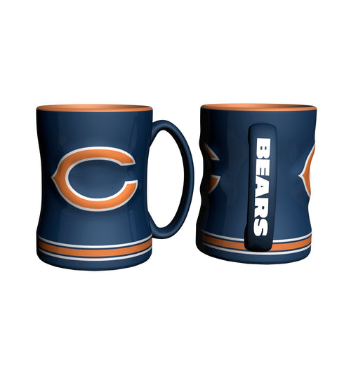 Chicago Bears NFL Football Logo Relief 14 oz. Mug - Dynasty Sports & Framing