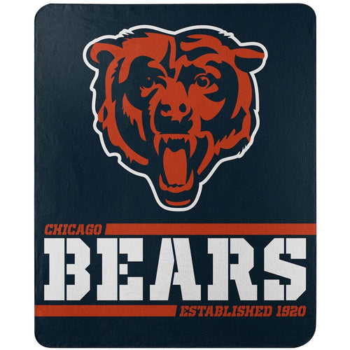"Chicago Bears NFL Football 50"" x 60"" Split Wide Fleece Blanket - Dynasty Sports & Framing"