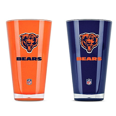Chicago Bears NFL Football 2-Pack Tumbler Cup Set