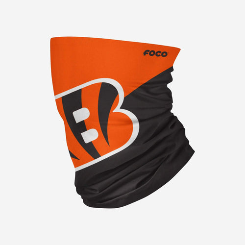 Cincinnati Bengals Colorblock Big Logo Gaiter Scarf - Dynasty Sports & Framing