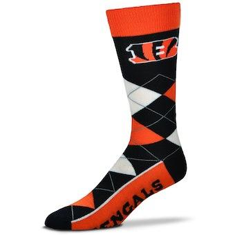 Cincinnati Bengals Men's NFL Football Argyle Lineup Socks