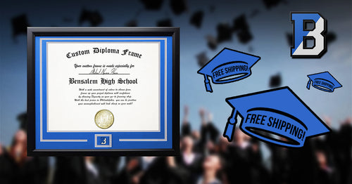 Bensalem High School Graduation Diploma Frame - Dynasty Sports & Framing