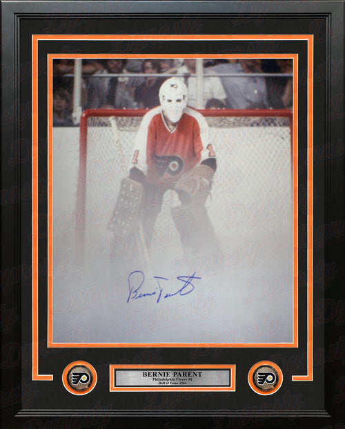 "Bernie Parent Fog Game Philadelphia Flyers Autographed Framed 16"" x 20"" Hockey Photo - Dynasty Sports & Framing"