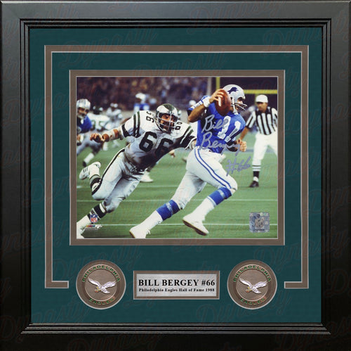 Bill Bergey v. Lions Philadelphia Eagles Autographed 8x10 Framed Football Photo - Dynasty Sports & Framing