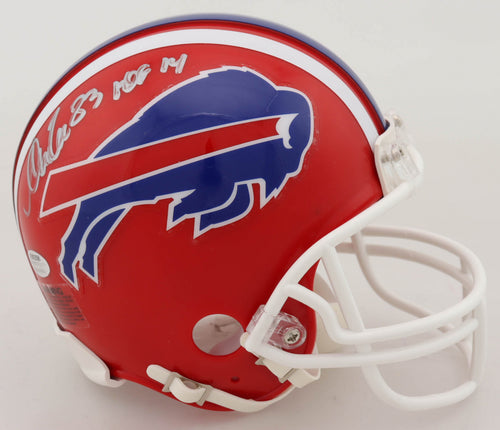 Andre Reed Buffalo Bills Autographed Football Mini-Helmet with Hall of Fame Inscription - Dynasty Sports & Framing