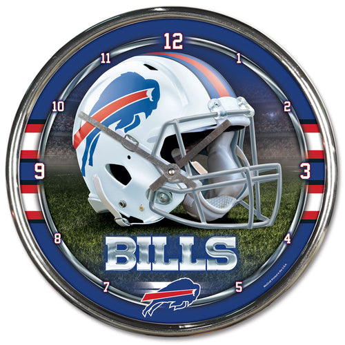 Buffalo Bills Round Chrome Clock - Dynasty Sports & Framing