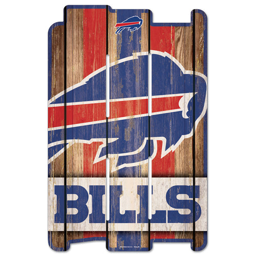 "Buffalo Bills 11"" x 17"" Football Fence Sign - Dynasty Sports & Framing"