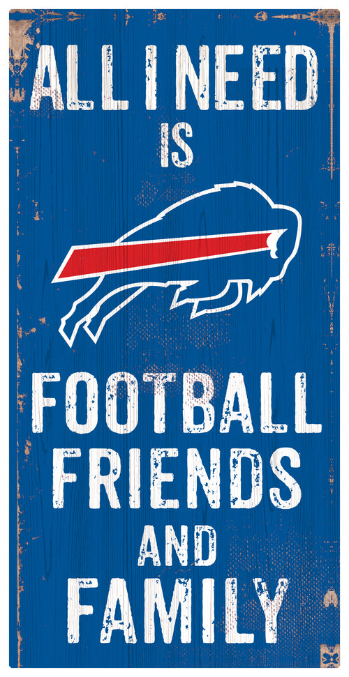 Buffalo Bills Football and My Friends & Family Wood Sign - Dynasty Sports & Framing