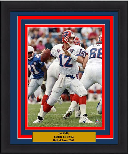 "Jim Kelly v. New England Buffalo Bills 8"" x 10"" Framed Football Photo - Dynasty Sports & Framing"