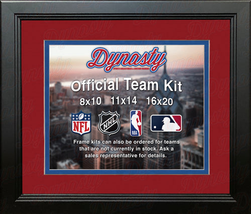 NHL Hockey Photo Picture Frame Kit - Montreal Canadiens (Red Matting, Blue Trim) - Dynasty Sports & Framing